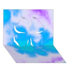 Blue And Purple Clouds Clover 3d Greeting Card (7x5)  by TRENDYcouture