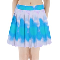 Blue And Purple Clouds Pleated Mini Mesh Skirt