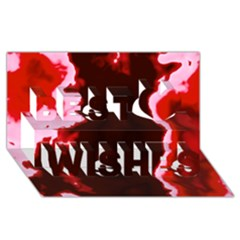 Crimson Sky Best Wish 3d Greeting Card (8x4)  by TRENDYcouture