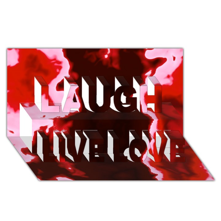 crimson sky Laugh Live Love 3D Greeting Card (8x4)