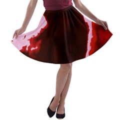 Crimson Sky A Line Skater Skirt by TRENDYcouture
