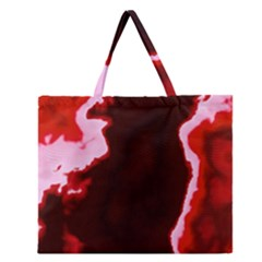 crimson sky Zipper Large Tote Bag