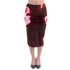 crimson sky Midi Pencil Skirt
