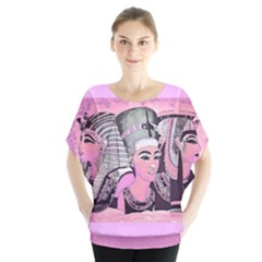 Egyptian Queens  Batwing Chiffon Blouse by DoniainArt