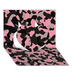 Kitty Camo Heart 3d Greeting Card (7x5)  by TRENDYcouture