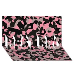 Kitty Camo Best Bro 3d Greeting Card (8x4)  by TRENDYcouture