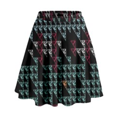 Triangles                                                                                 High Waist Skirt