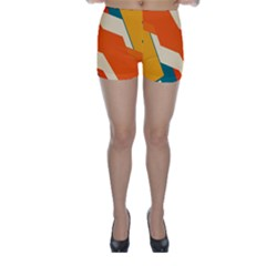 Shapes In Retro Colors                                                                                  Skinny Shorts by LalyLauraFLM