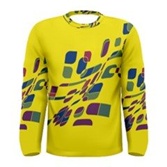 Yellow Abstraction Men s Long Sleeve Tee by Valentinaart
