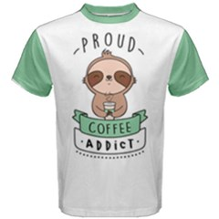Proud Coffee Addict Men s Cotton Tee