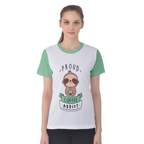 Proud Coffee Addict Women s Cotton Tee by Contest2491102