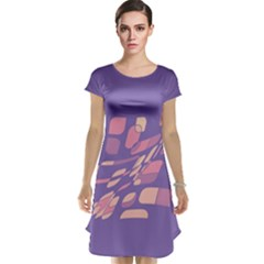 Purple Abstraction Cap Sleeve Nightdress by Valentinaart
