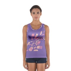 Purple Abstraction Women s Sport Tank Top  by Valentinaart