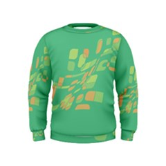 Green Abastraction Kids  Sweatshirt by Valentinaart
