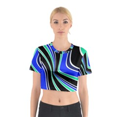 Colors Of 70 s Cotton Crop Top by Valentinaart