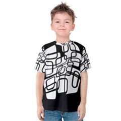 White Abstraction Kid s Cotton Tee by Valentinaart