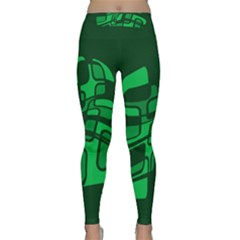 Green Abstraction Yoga Leggings by Valentinaart