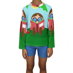 Brainiac Kid s Long Sleeve Swimwear