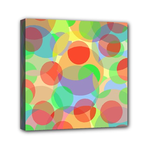 Colorful Circles Mini Canvas 6  X 6  by Valentinaart