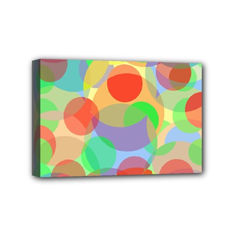 Colorful Circles Mini Canvas 6  X 4  by Valentinaart