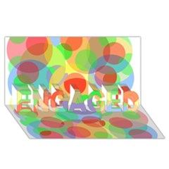 Colorful Circles Engaged 3d Greeting Card (8x4)