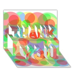 Colorful Circles Thank You 3d Greeting Card (7x5)  by Valentinaart