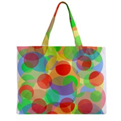 Colorful Circles Zipper Mini Tote Bag by Valentinaart