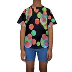 Colorful Circles Kid s Short Sleeve Swimwear by Valentinaart