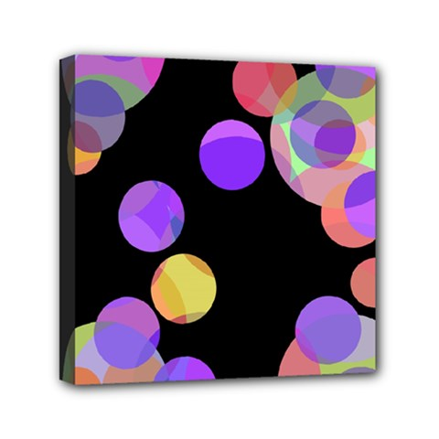 Colorful Decorative Circles Mini Canvas 6  X 6  by Valentinaart