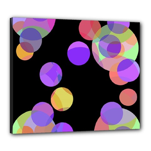 Colorful Decorative Circles Canvas 24  X 20  by Valentinaart