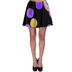 Colorful Decorative Circles Skater Skirt by Valentinaart