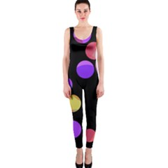 Colorful Decorative Circles Onepiece Catsuit by Valentinaart