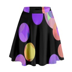 Colorful Decorative Circles High Waist Skirt by Valentinaart