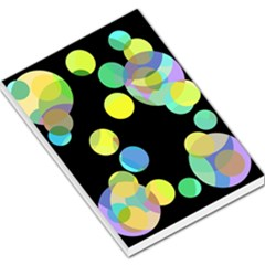 Yellow Circles Large Memo Pads by Valentinaart