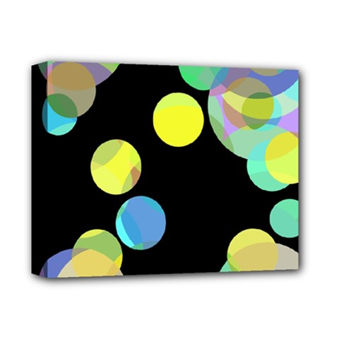 Yellow Circles Deluxe Canvas 14  X 11  by Valentinaart