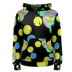 Yellow Circles Women s Pullover Hoodie