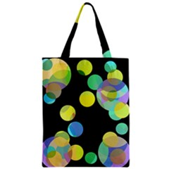 Yellow Circles Zipper Classic Tote Bag by Valentinaart