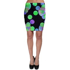 Green Decorative Circles Bodycon Skirt by Valentinaart
