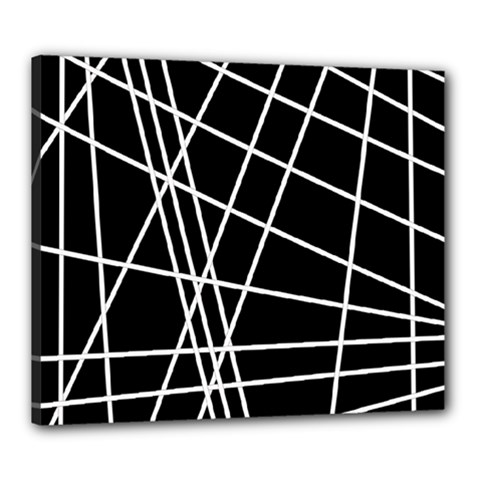 Black And White Simple Design Canvas 24  X 20  by Valentinaart