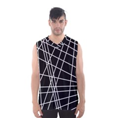 Black And White Simple Design Men s Basketball Tank Top by Valentinaart
