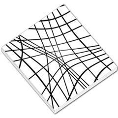 Black And White Decorative Lines Small Memo Pads by Valentinaart