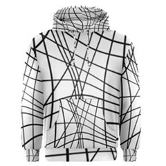 Black And White Decorative Lines Men s Pullover Hoodie by Valentinaart