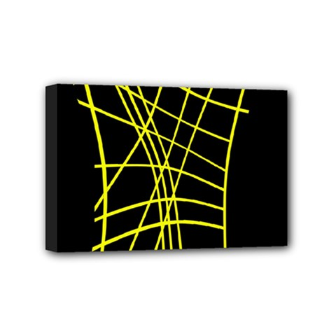 Yellow Abstraction Mini Canvas 6  X 4  by Valentinaart