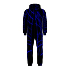 Neon Blue Abstraction Hooded Jumpsuit (kids) by Valentinaart
