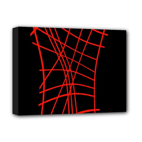 Neon Red Abstraction Deluxe Canvas 16  X 12   by Valentinaart