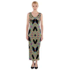 Time Sphere Fitted Maxi Dress by MRTACPANS