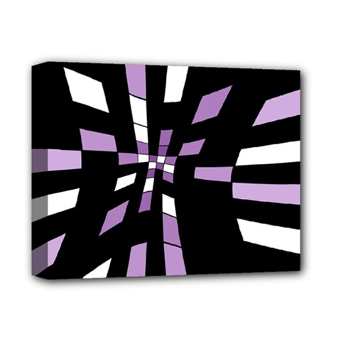 Purple Abstraction Deluxe Canvas 14  X 11  by Valentinaart