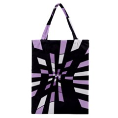 Purple Abstraction Classic Tote Bag by Valentinaart