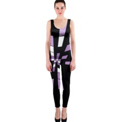 Purple Abstraction Onepiece Catsuit by Valentinaart