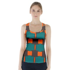 3 Colors Shapes Pattern      Racer Back Sports Top by LalyLauraFLM
